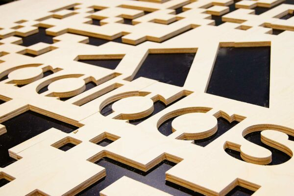 MDF Sign with Intricate Cuts - High-Precision Signage Solutionss