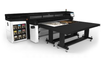 HP hybrid flatbed printer